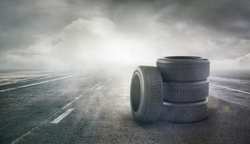 Tires on a street