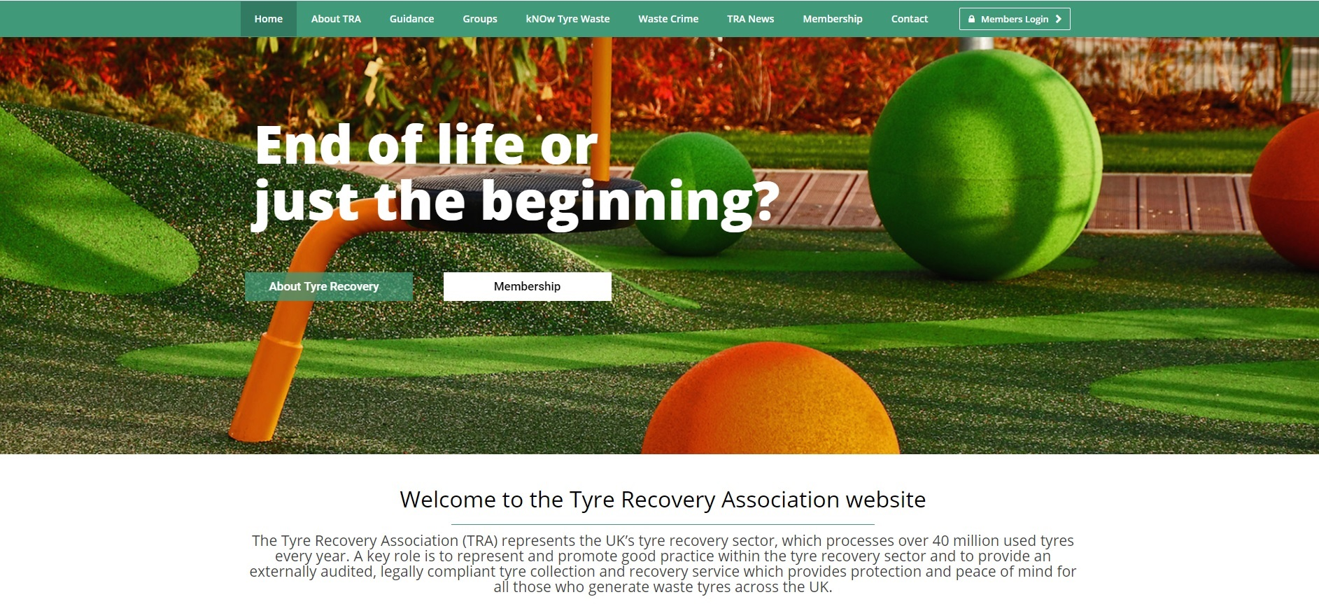 Tyre Recovery Association Launches New Website As Guidance To The Tyre Recovery Process