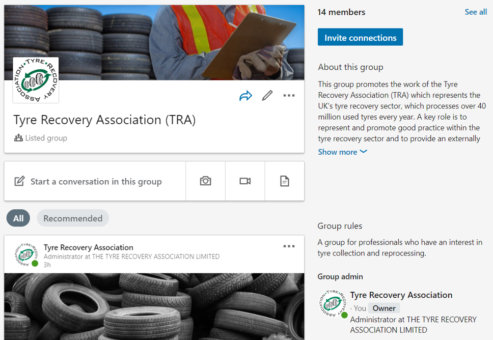TRA launches new LinkedIn Group